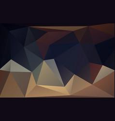 low polygonal dark pastel background vector image