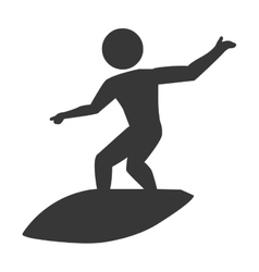 Men doing surf sports theme design icon vector