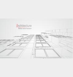 Modern architecture wireframe concept urban vector