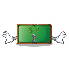 money eye shape billiard table on wooden cartoon vector image