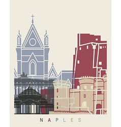 naples skyline poster vector image