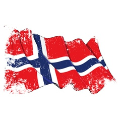 Norway Flag Grunge vector image