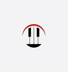 piano logo music icon symbol vector image