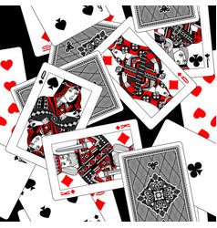 playing cards seamless pattern background vector image
