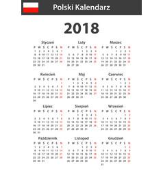 Polish calendar for 2018 scheduler agenda or vector