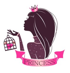 Portrait of a Princess with cage vector image