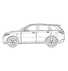 Range rover sport sketch vector