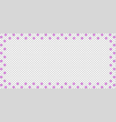 Rectangle border of pink paw prints on vector