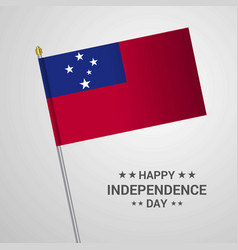 Samoa independence day typographic design with vector