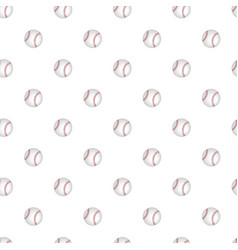 seamless pattern with baseball on a white vector image