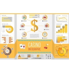 Set of Casino Gambling Infographic elements with vector image