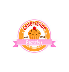 Sign for candy shop vector