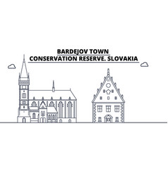 Slovakia - bardejov town conservation reserve vector