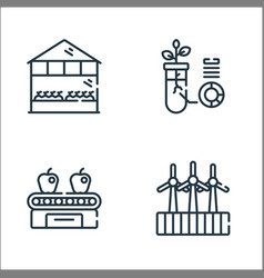 Smart farm line icons linear set quality line set vector