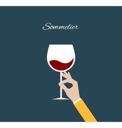 Sommelier Flat vector image