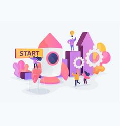 Startup accelerator concept vector