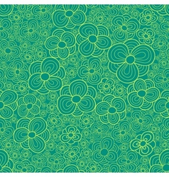 Stylized daisy seamless pattern vector