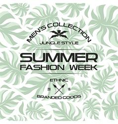 Summer fashion week flyer vector image