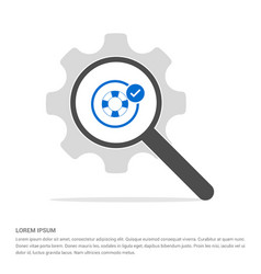Swimming lifebuoy allowed icon search glass with vector