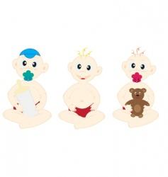 three happy children vector image