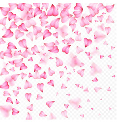 valentines day romantic background hearts vector image