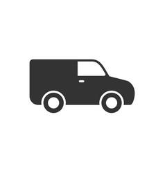 Van glyph icon or commercial transport concept vector