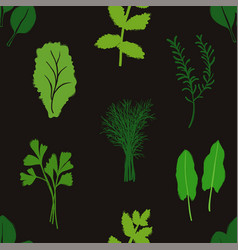 vegetables and herbs seamless pattern vector image