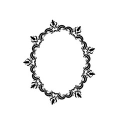 Vintage border frame crest ornate decoration vector