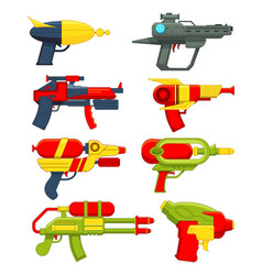 Water guns weapons toys for children vector