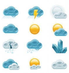 Weather forecast icons day vector