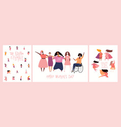 Womens day designs set vector
