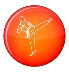 Wushu master icon flat style vector