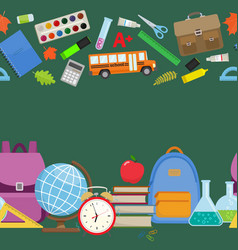 back to school borders vector image