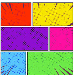 Bright colorful retro style pop art comic page vector