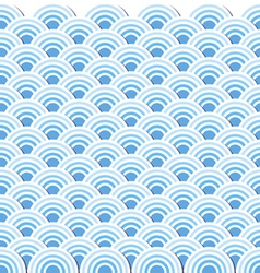 Pattern wave of sea japanese style vector image