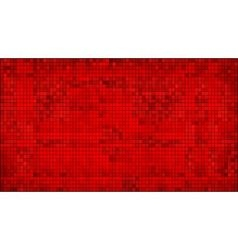 Red abstract mosaic background vector image