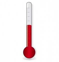 red thermometer vector image