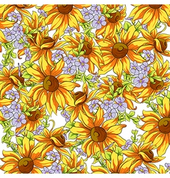 Bright background of sunflowers vector image