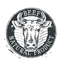 cow logo design template beef or cattle vector image