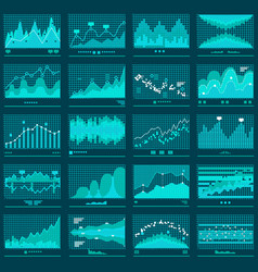 financial trend graphs business banner vector image