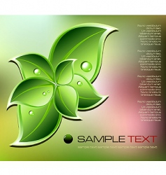 fresh natural concept background vector image vector image