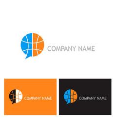 globe communication logo vector image vector image