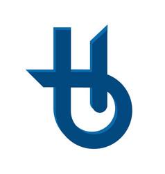 letter h holistic health center logo design vector image vector image