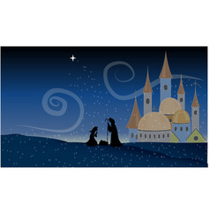 Scene Jesus Christ Nativity Baby Christian Holy vector image