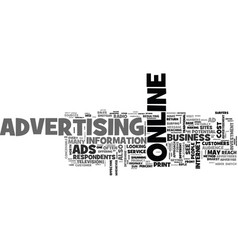 Are online ads worth the cost text word cloud vector