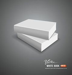 Cover white book empty template vector image vector image