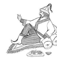 eastern lord orders vector image