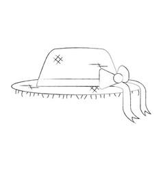 female farmer hat icon vector image
