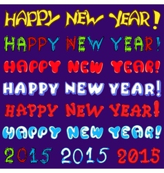 inscription set - happy new year vector image vector image