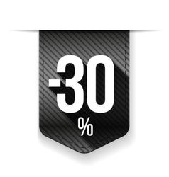 Sale thirty percent off banner grey ribon vector image vector image